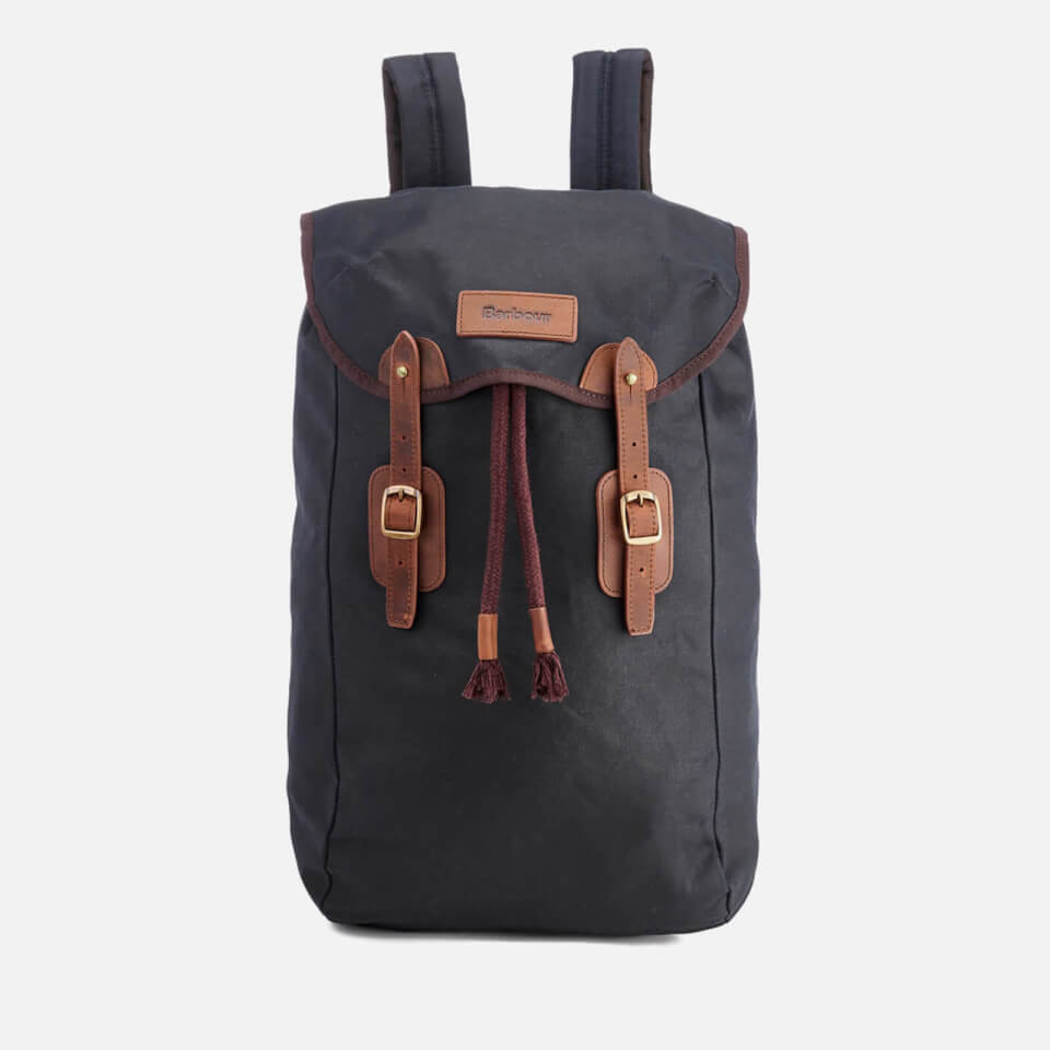 Barbour Men S Wax Leather Backpack Navy