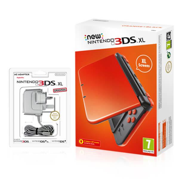 new nintendo 3ds xl orange black nintendo official uk store. Black Bedroom Furniture Sets. Home Design Ideas