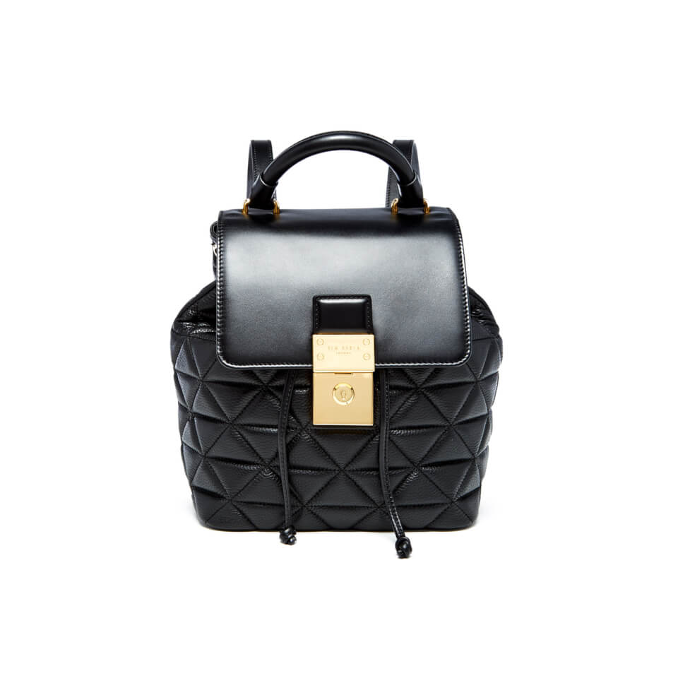 Ted Baker Women S Gaile Quilted Luggage Lock Backpack Black