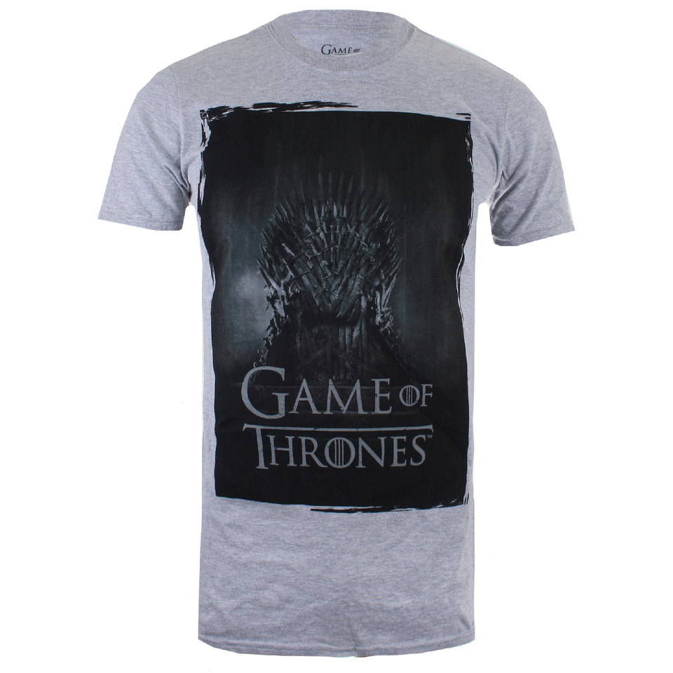 Game of thrones men 39 s throne t shirt grey marl for Game of thrones gifts for men