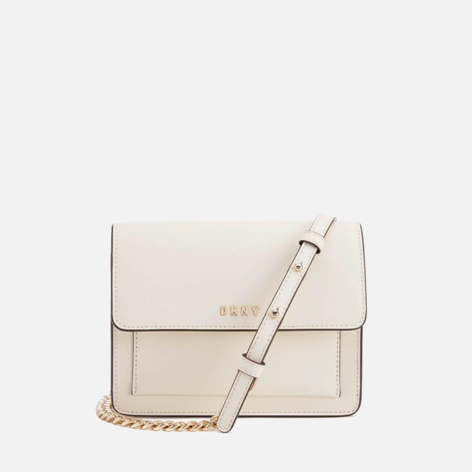 f05a39945a4c DKNY Women s Bryant Park Mini Flap Cross Body Bag - Cream