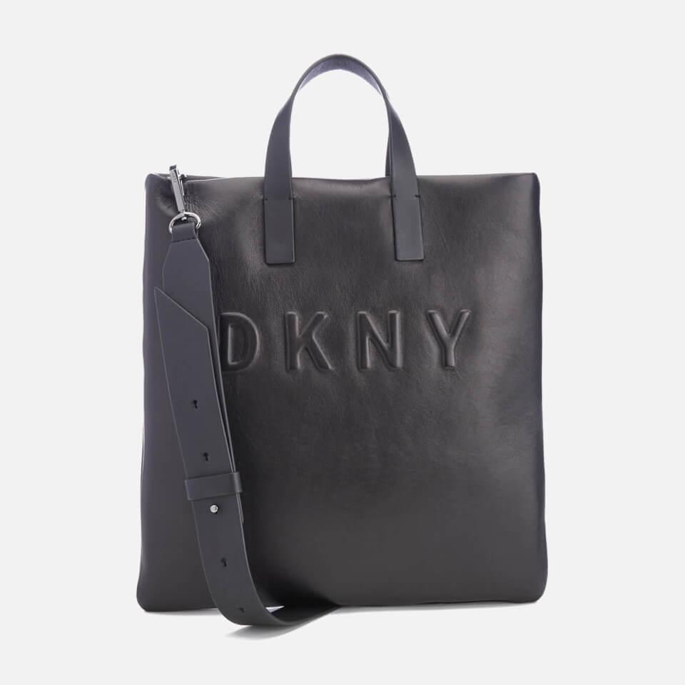 DKNY Women's Debossed Logo Tote Bag - Black