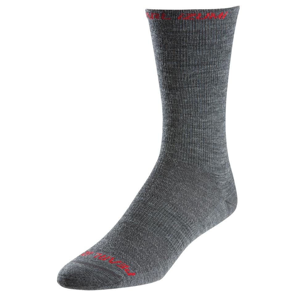 Pearl Izumi Elite Tall Wool Socks - Shadow Grey | Strømper