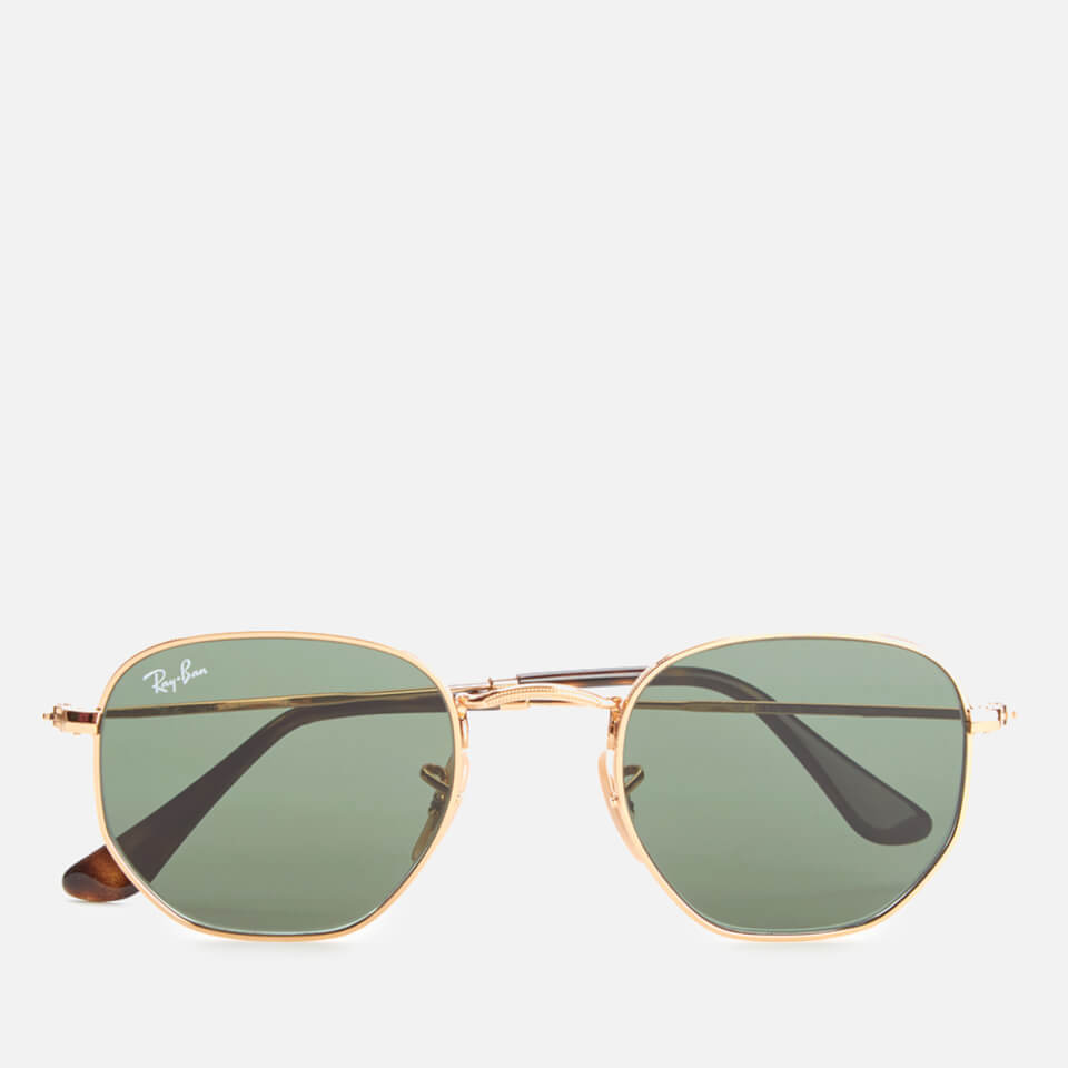 5513d21798 Ray-Ban Hexagonal Metal Frame Sunglasses - Gold Green - Free UK Delivery  over £50