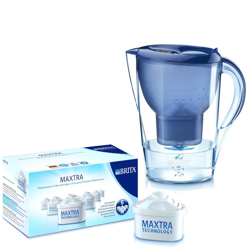 brita marella xl cool water filter jug blue 3 5l includes 7 maxtra cartridges homeware. Black Bedroom Furniture Sets. Home Design Ideas