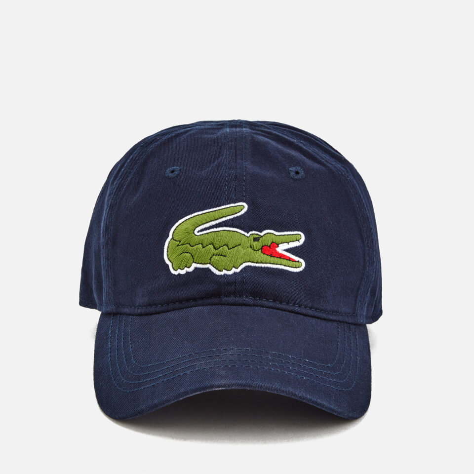 Lacoste Men s Large Croc Logo Baseball Cap - Navy - Free UK Delivery ... 4336433f3a48