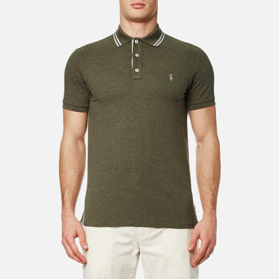 Polo ralph lauren men 39 s custom fit tipped polo shirt for Staples custom t shirts
