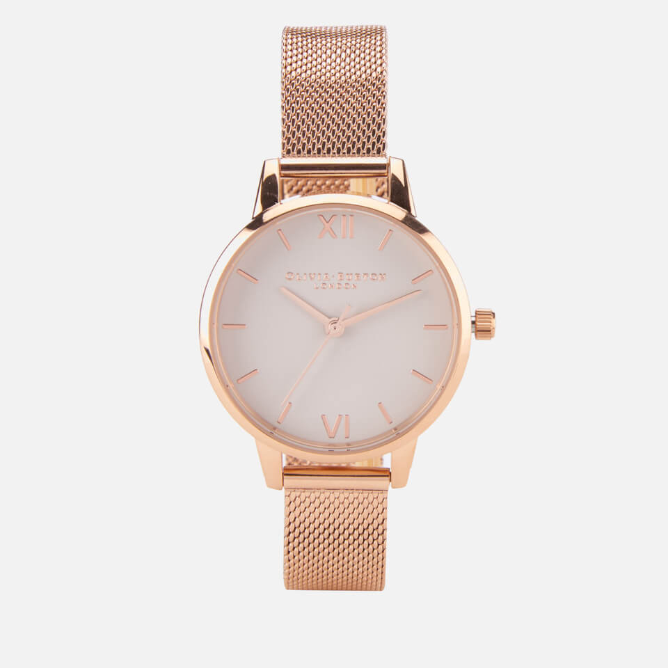 Olivia Burton Women S Rose Gold Mesh Bracelet Watch Rose