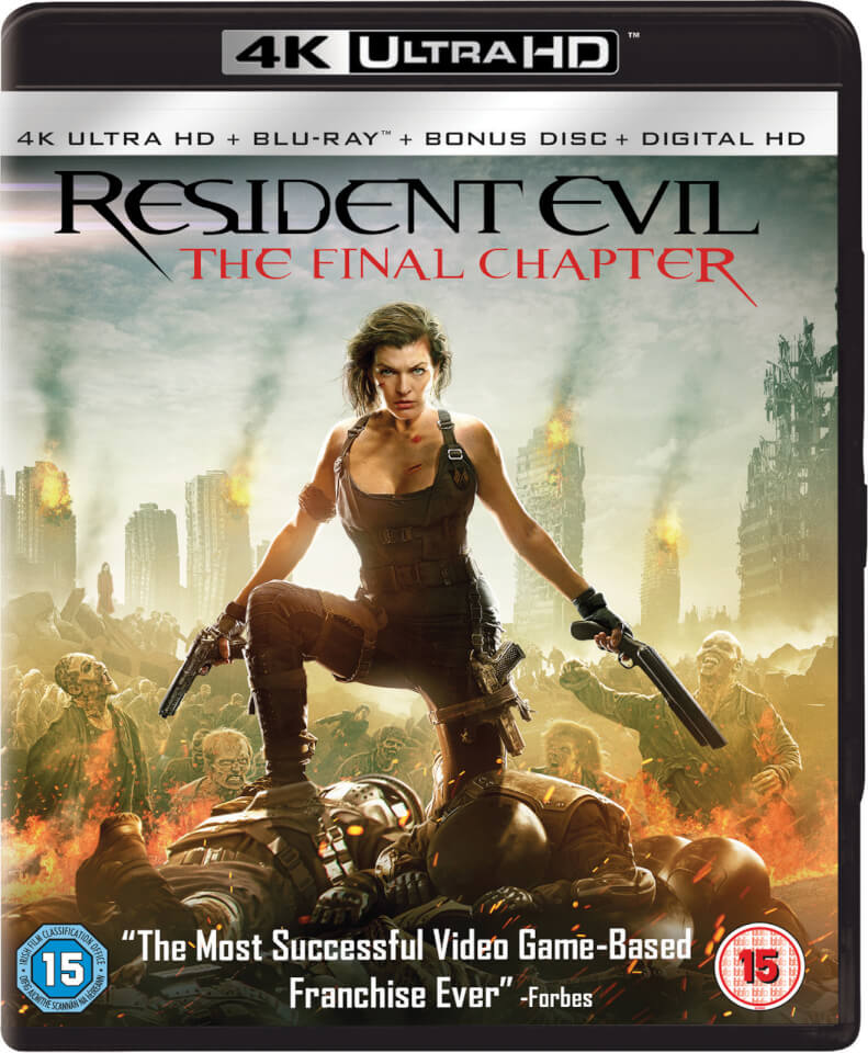 resident evil the final chapter 4k ultra hd includes. Black Bedroom Furniture Sets. Home Design Ideas