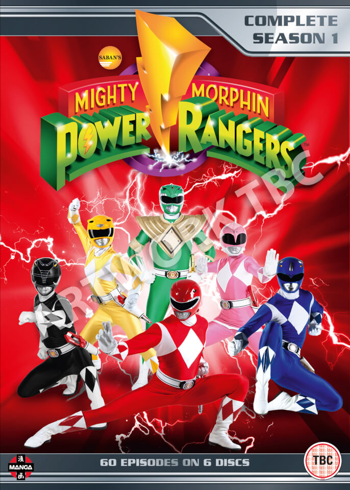 mighty morphin power rangers complete season 1 collection. Black Bedroom Furniture Sets. Home Design Ideas