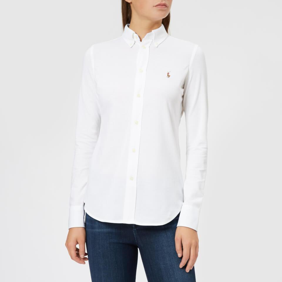 Women's Shirt Heidi Skinny Ralph Sleeve Long Polo Lauren White K3T1JcFul
