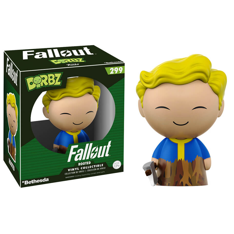 Fallout Vault Boy Rooted Dorbz Vinyl Figure Pop In A Box Uk