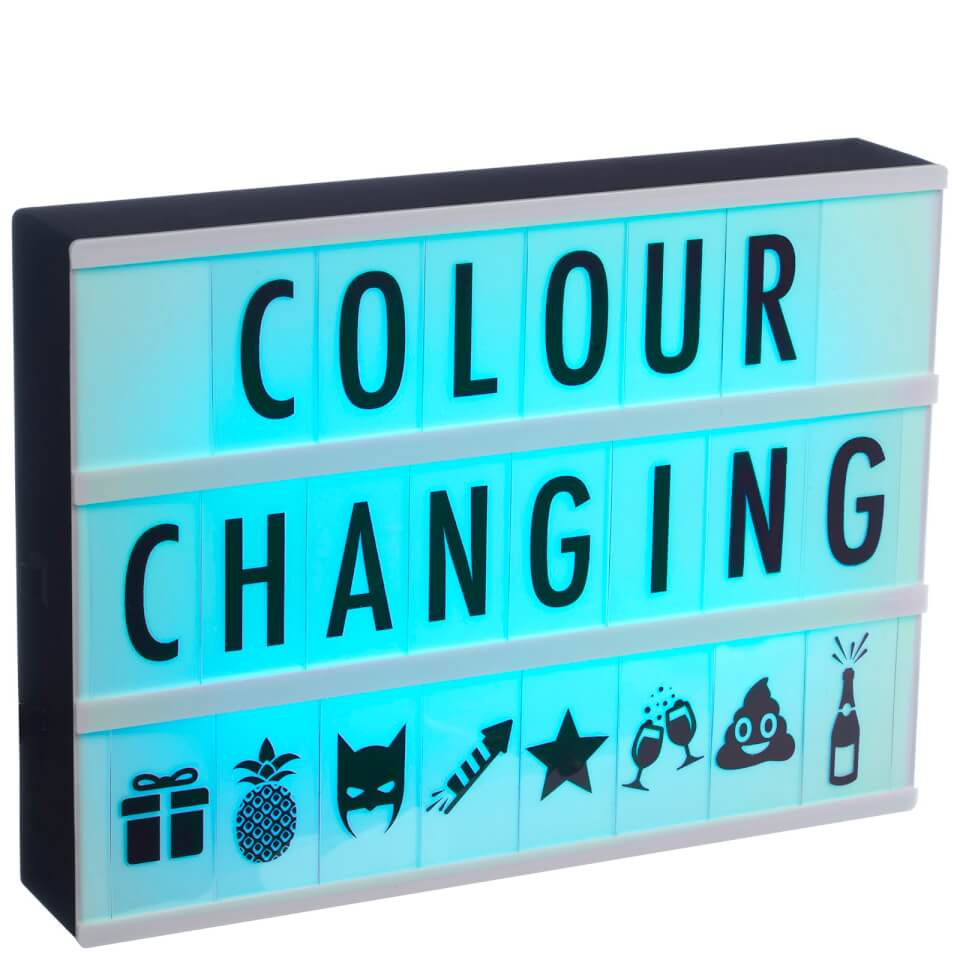 A4 colour changing cinematic light box black traditional for Oficinas disney madrid