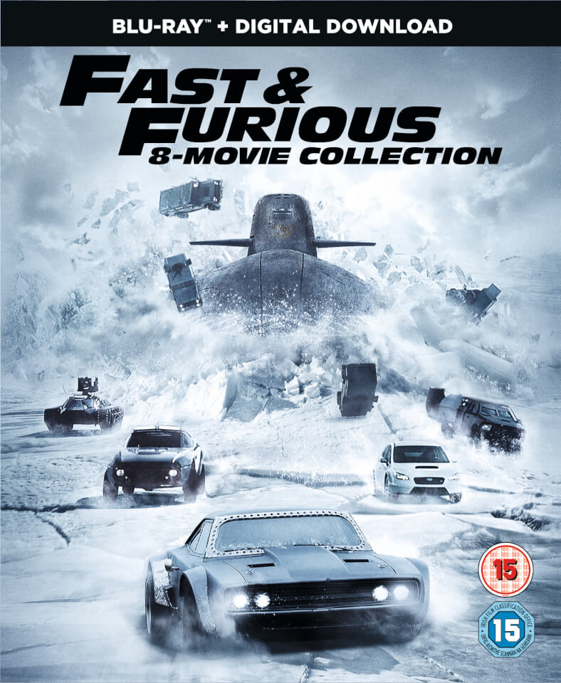 fast furious 8 film collection digital download blu ray zavvi. Black Bedroom Furniture Sets. Home Design Ideas