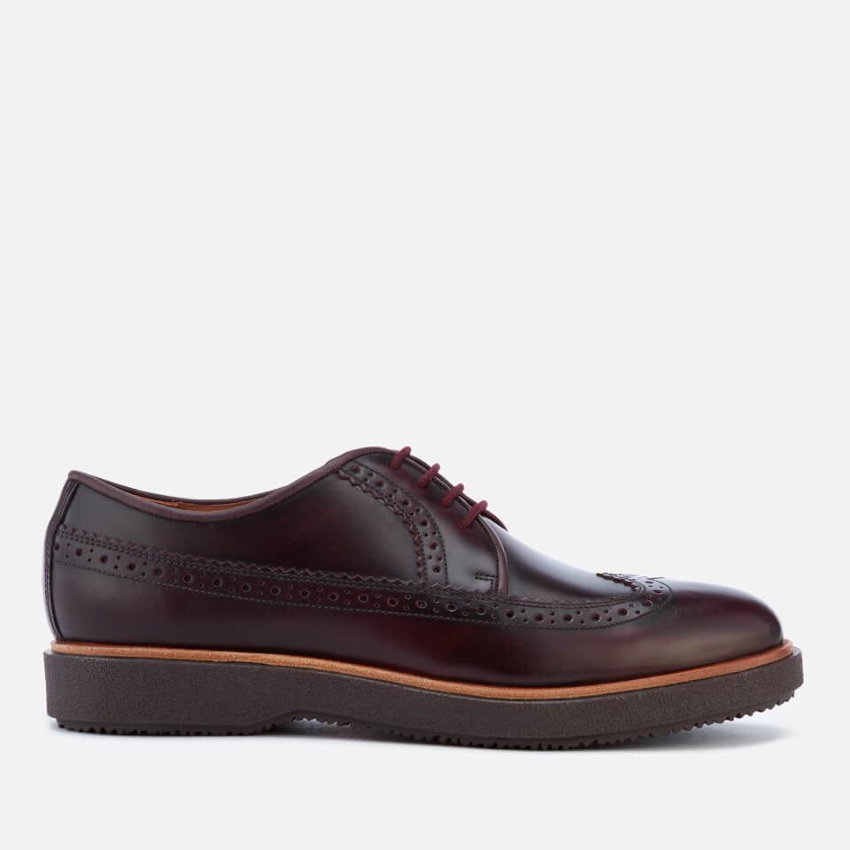Clarks Men S Modur Limit Leather Brogues Burgundy Free