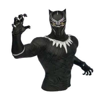 Marvel Bust Coin Bank Black Panther Merchandise Zavvi