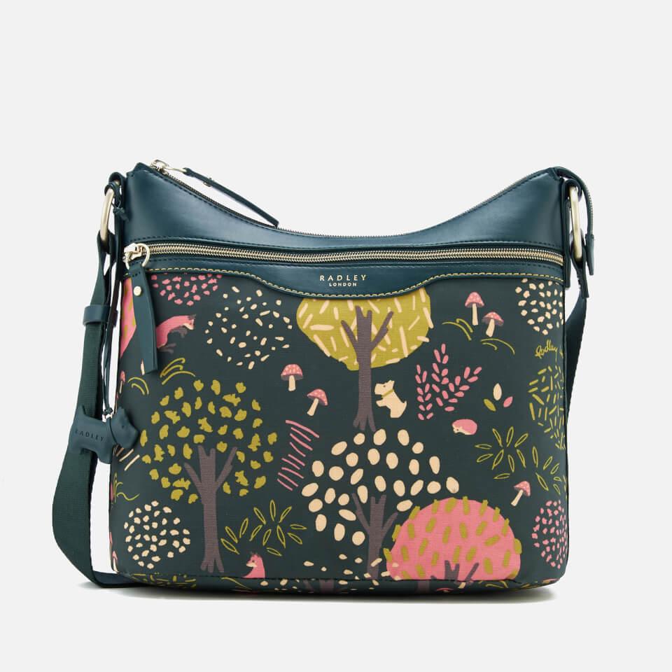 10a6e9b341 Radley Women's Epping Forest Medium Ziptop Hobo Bag - Pine