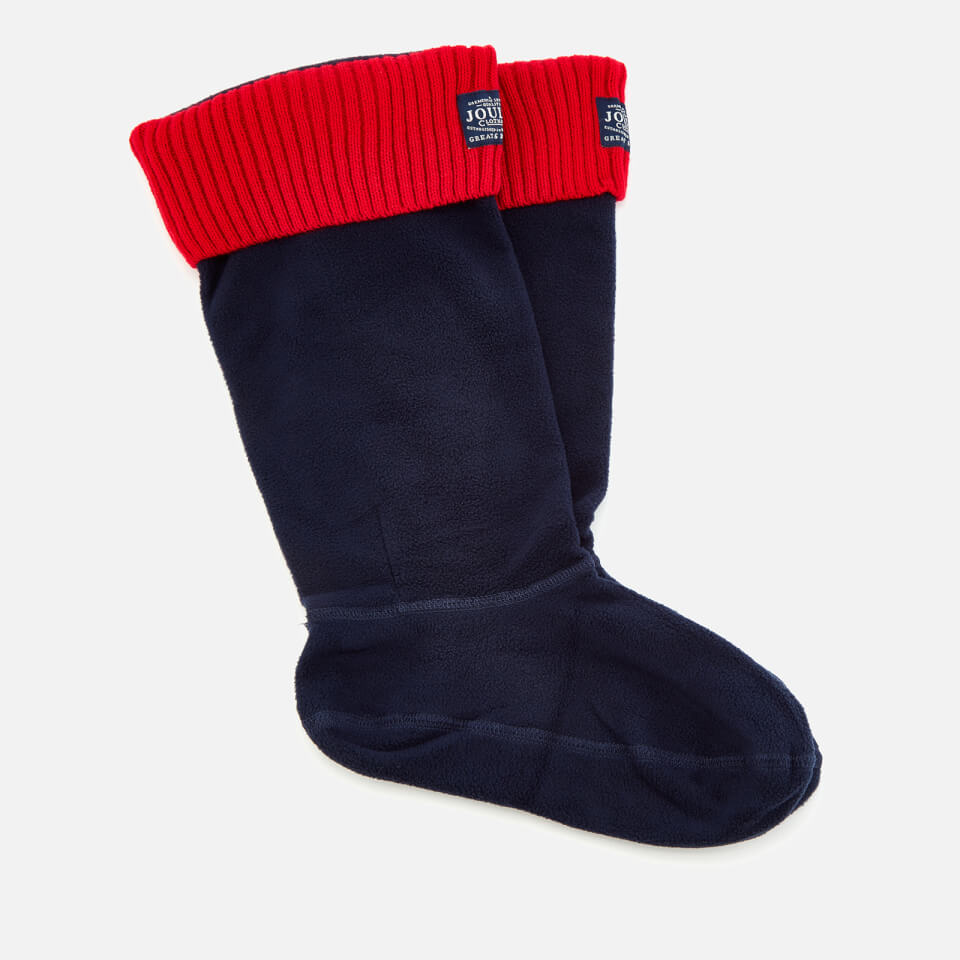 joules women 39 s hilston fleece welly socks french navy damenbekleidung. Black Bedroom Furniture Sets. Home Design Ideas