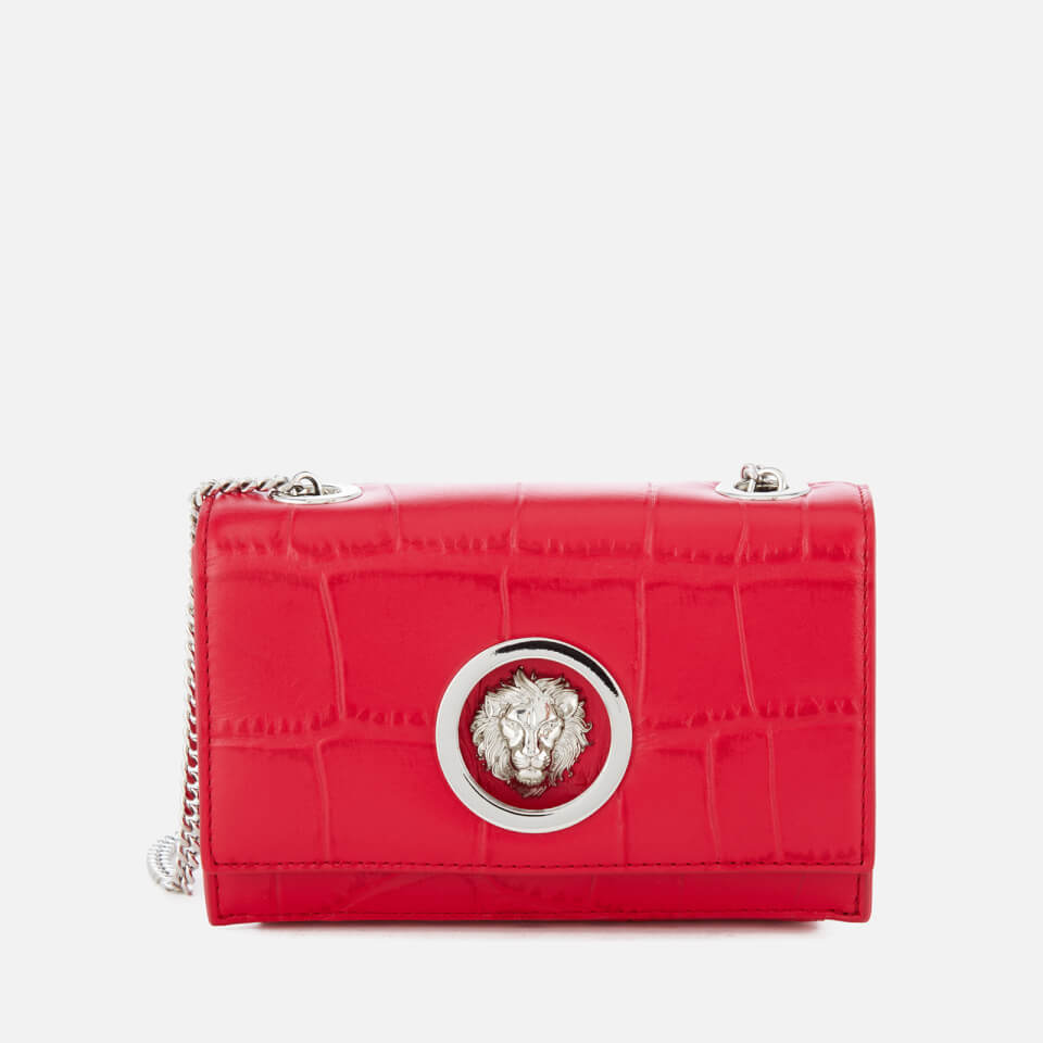 d3af716919de Versus Versace Women s Lion Croc Small Clutch Bag - Red