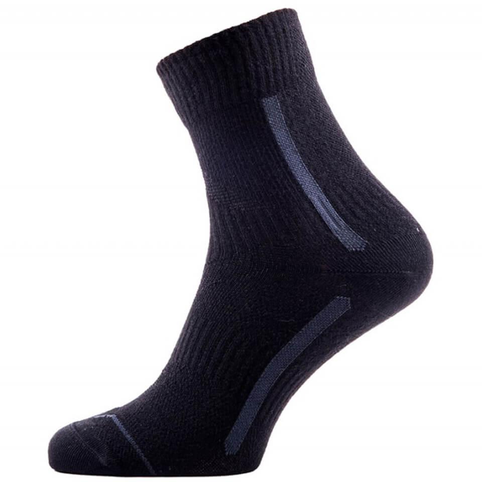 Sealskinz Road Max Ankle Socks - Black/Anthracite | Socks