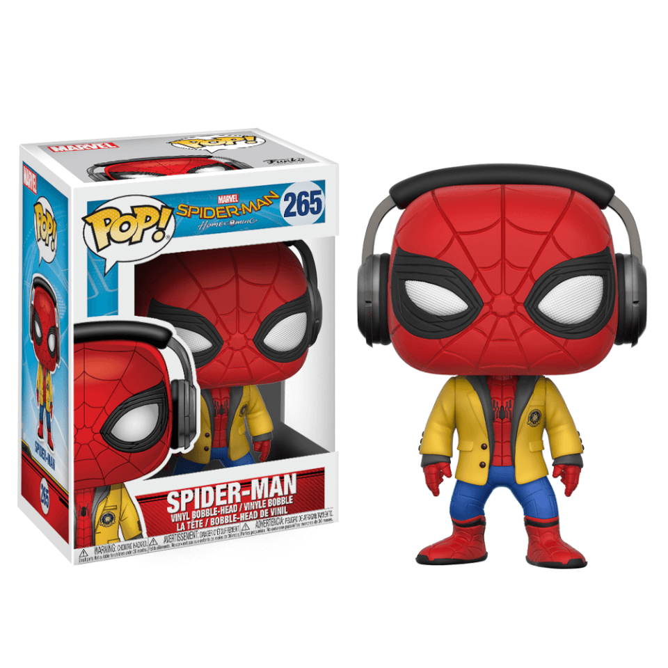 Spider Man Homecoming Spiderman With Headphones Pop Vinyl