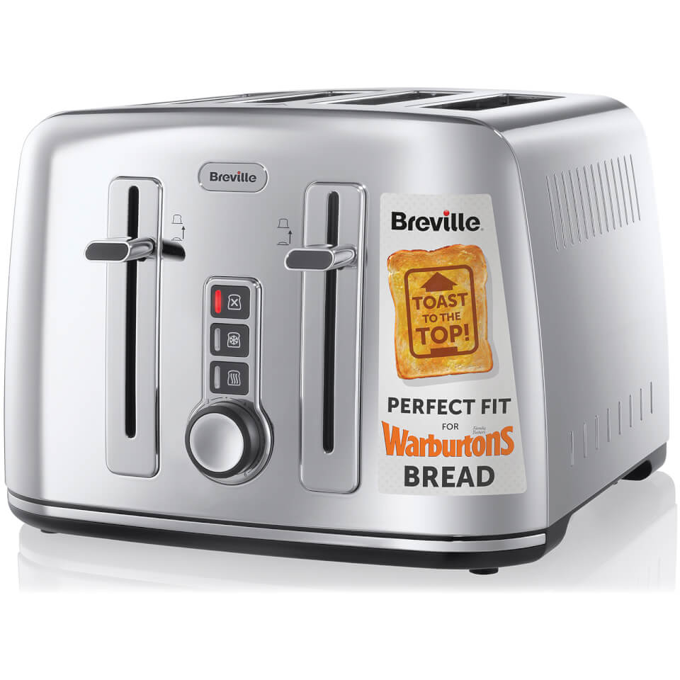 Breville the perfect fit for warburtons vtt571 4 slice for Perfect kitchen stainless