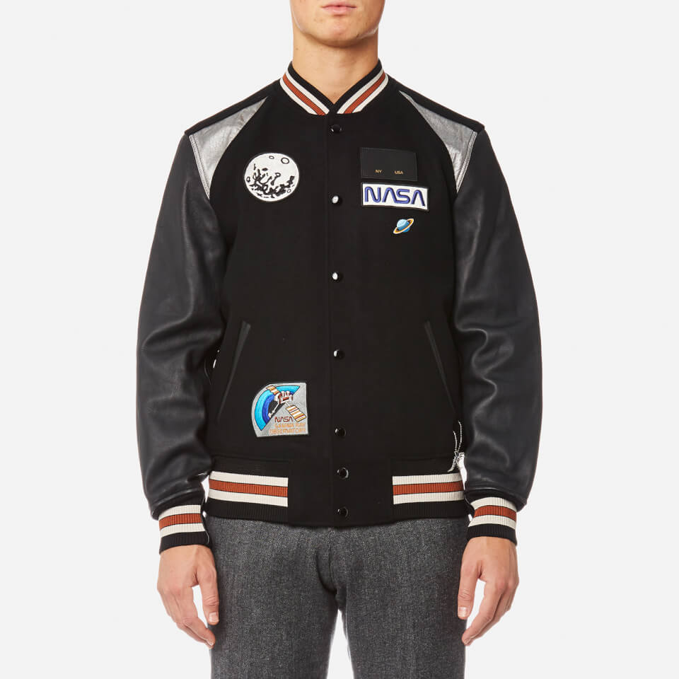 Coach 1941 Men S Space Patch Varsity Jacket Black Free
