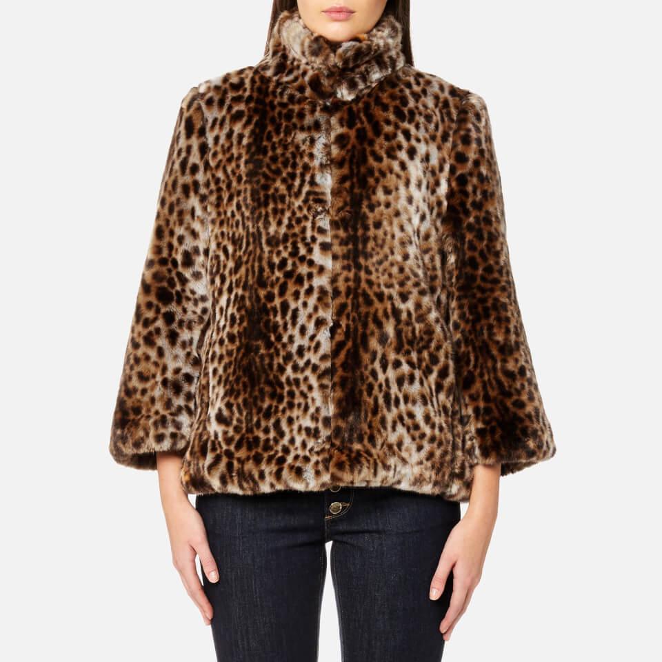 Michael Michael Kors Women S Leopard Print Faux Fur Coat