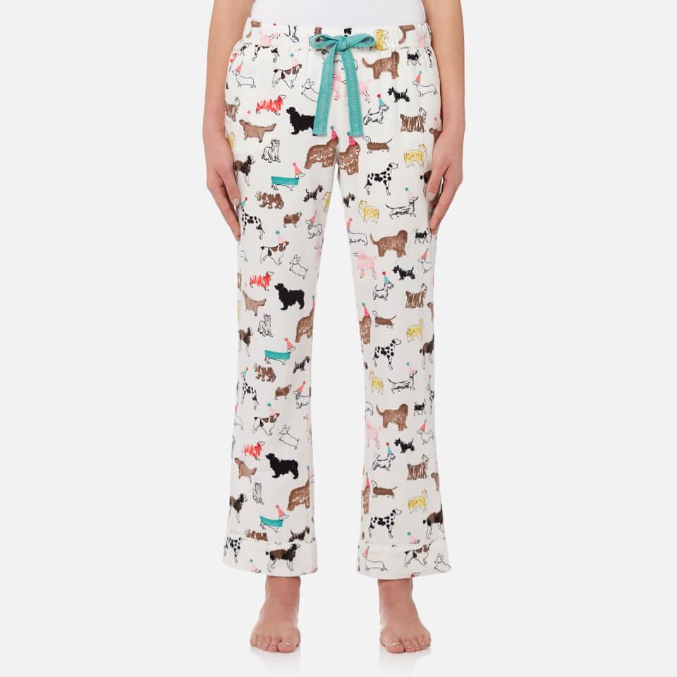 Joules Womens Snooze Woven Pyjama Bottoms Cream Dogs Clothing Sandal Connec Arizona Navy Fuchsia Woman 36