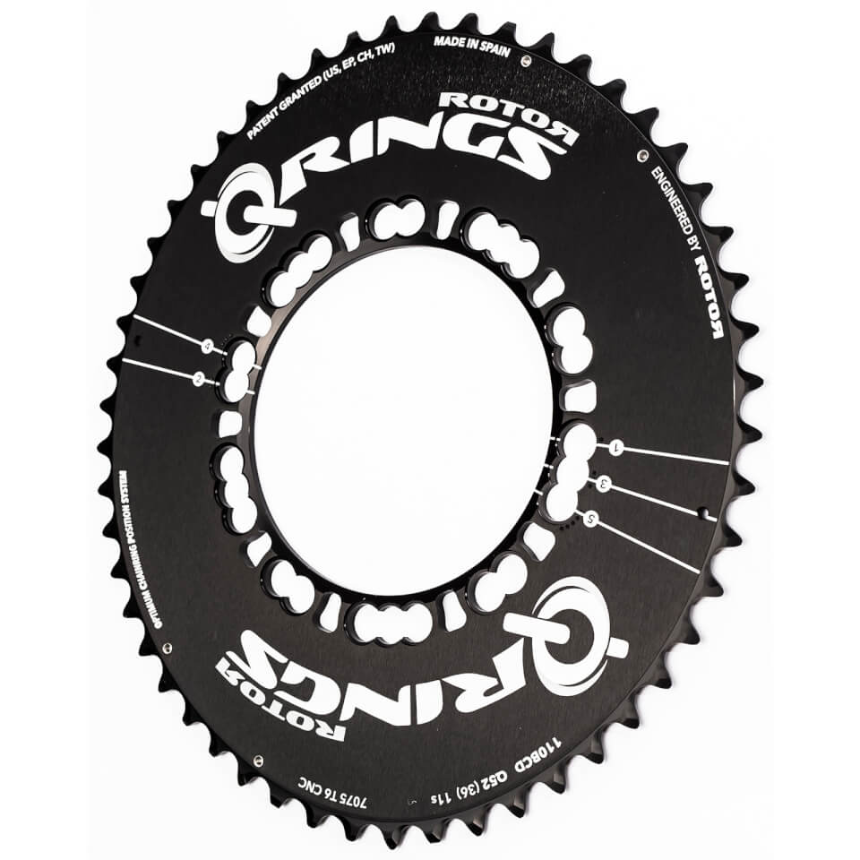 Rotor Q Aero Outer Chainring - Black | chainrings_component