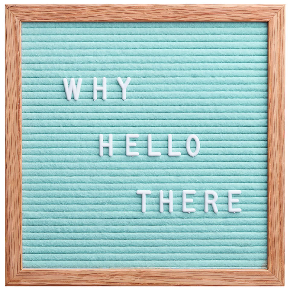 square premium felt letter board mint green iwoot. Black Bedroom Furniture Sets. Home Design Ideas