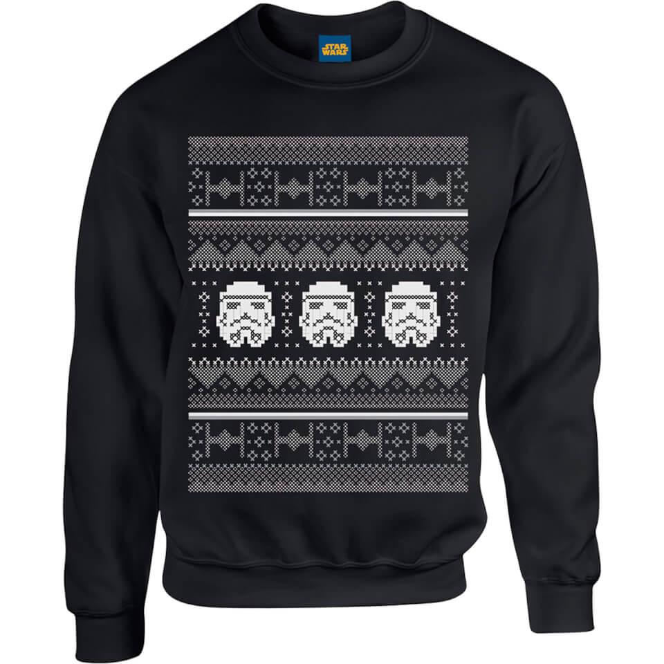 star wars stormtroopers kersttrui zwart merchandise. Black Bedroom Furniture Sets. Home Design Ideas