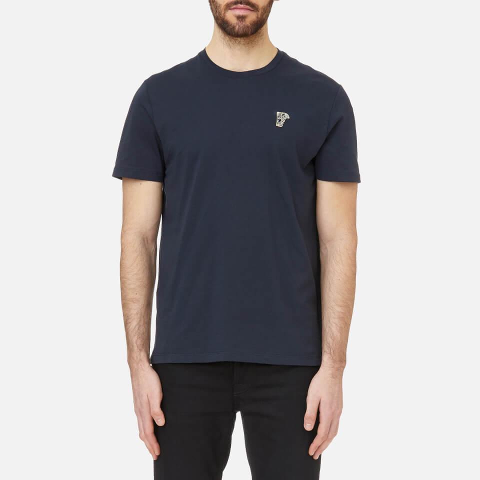 e5acb4286 Versace Collection Men's Small Logo T-Shirt Girocollo - Navy-Oro Clothing |  TheHut.com