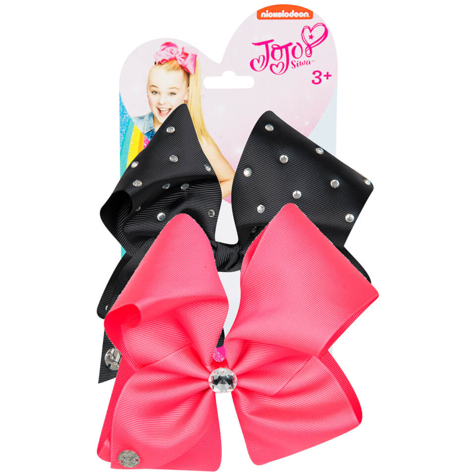 Jojo Siwa Bow Set Neon Pink Black Iwoot