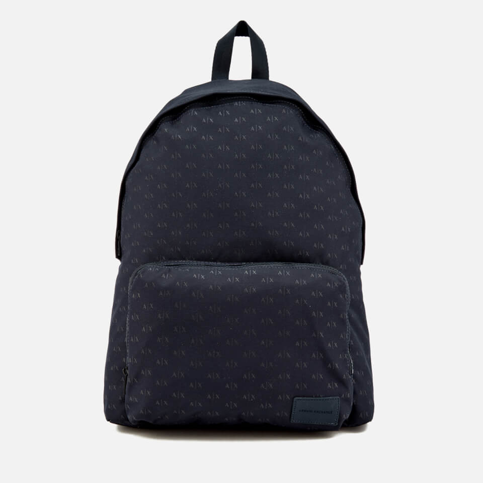 Armani Exchange Men s AX All Over Logo Rucksack - Navy a5a33e06f0989