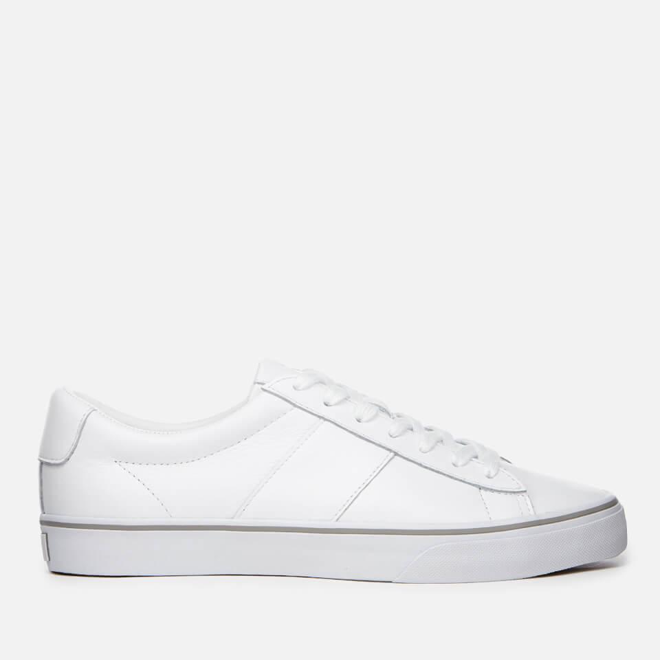 18b9e677c5f Polo Ralph Lauren Men s Sayer Leather Trainers - RL White