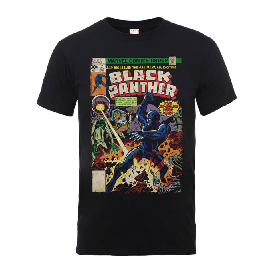 Marvel comics the black panther big issue men 39 s black t for Comic t shirts online