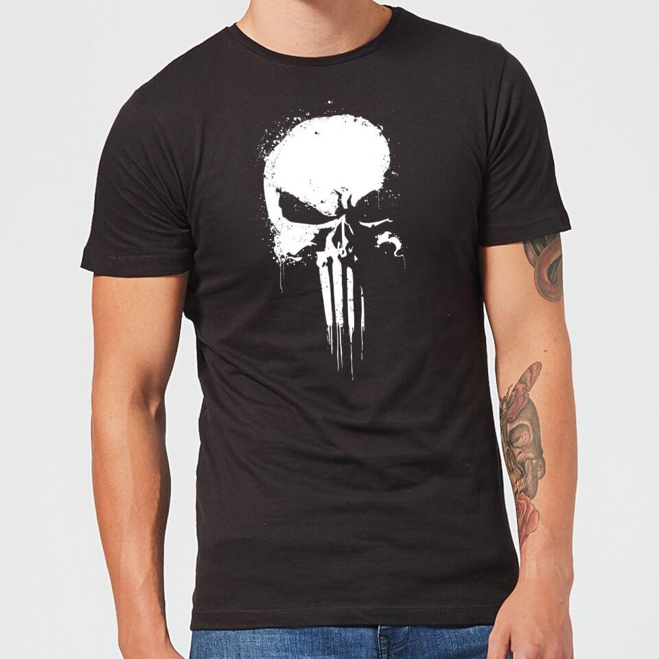 Marvel The Punisher Paintspray Men S Black T Shirt