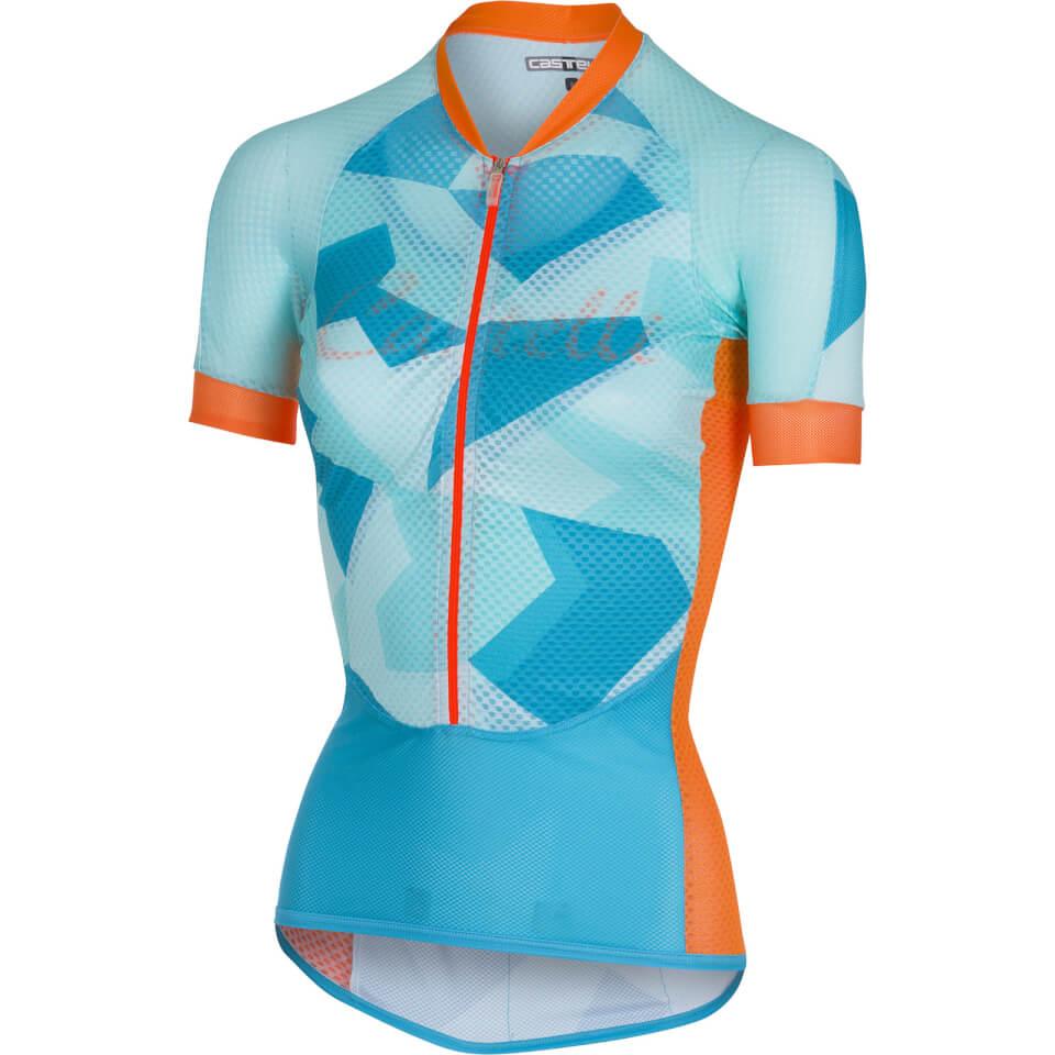 Castelli Women's Climber's Jersey - Sky Blue/Orange | Jerseys
