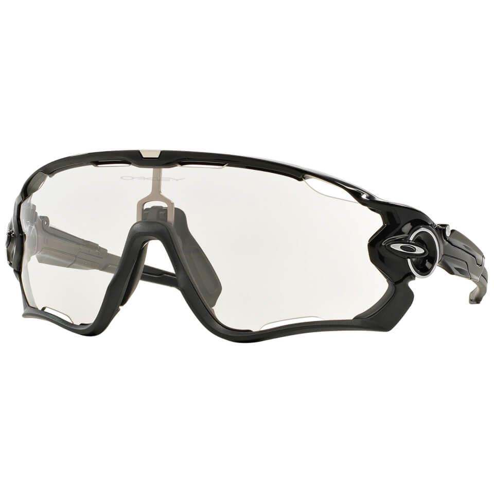 Oakley Jawbreaker Photochromic Road Sunglasses - Polished Black | Glasses
