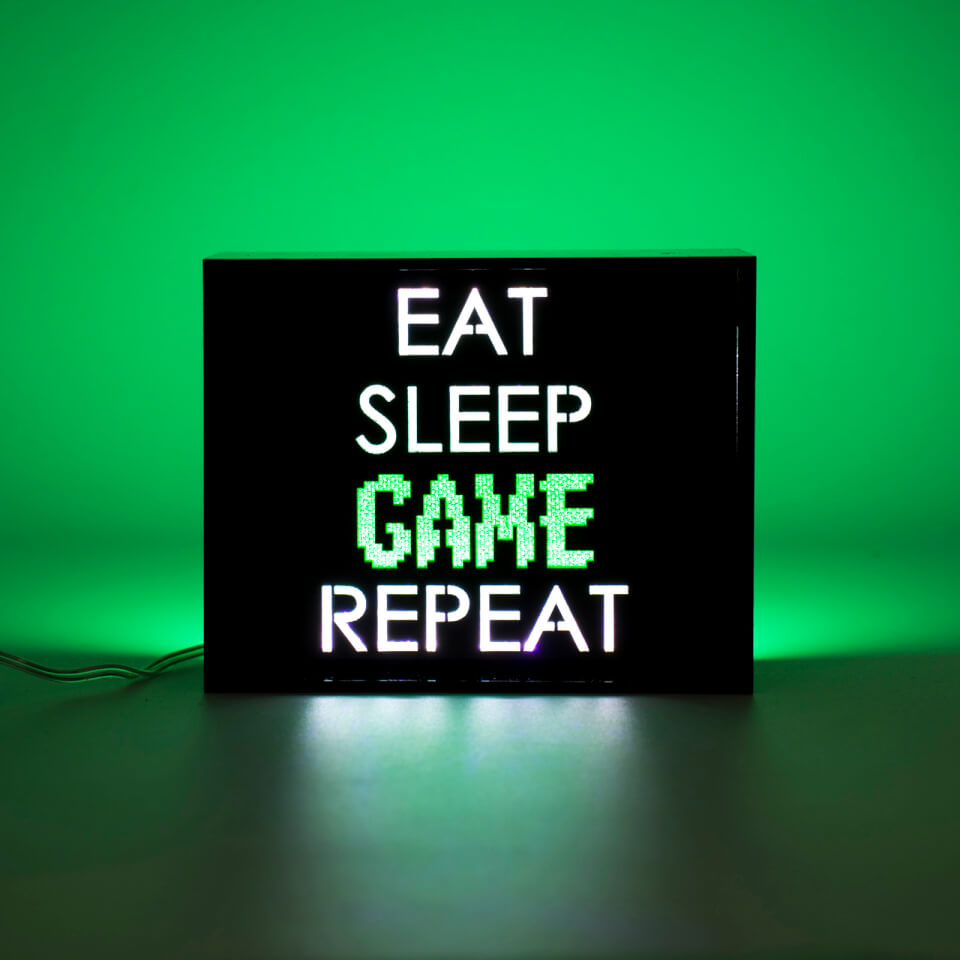 Eat Sleep Game Repeat Led Light Iwoot
