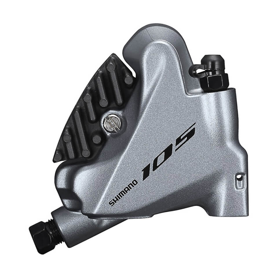 Shimano 105 BR-R7070 Hydraulic Brake Caliper Flat Mount Without Rotor with Adapter 140/160mm - Front | Brake calipers
