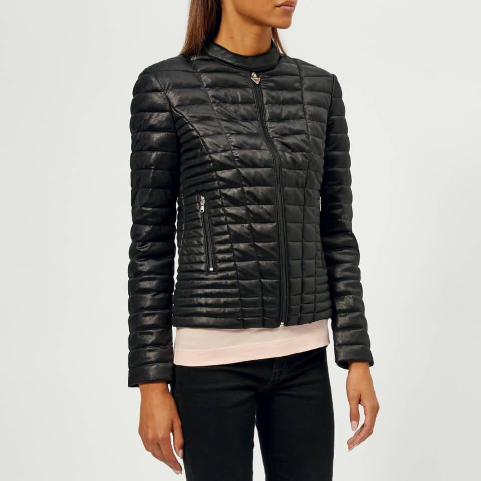 Guess Women S Outerwear Vona Jacket Jet Black Womens