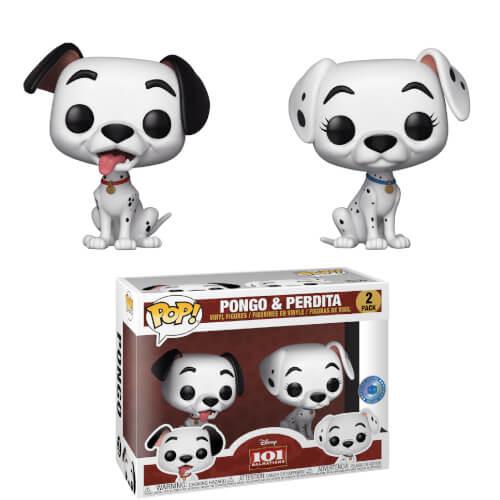 Piab Exc Disney 101 Dalmatians Pongo Perdita Pop Vinyl Figures 2