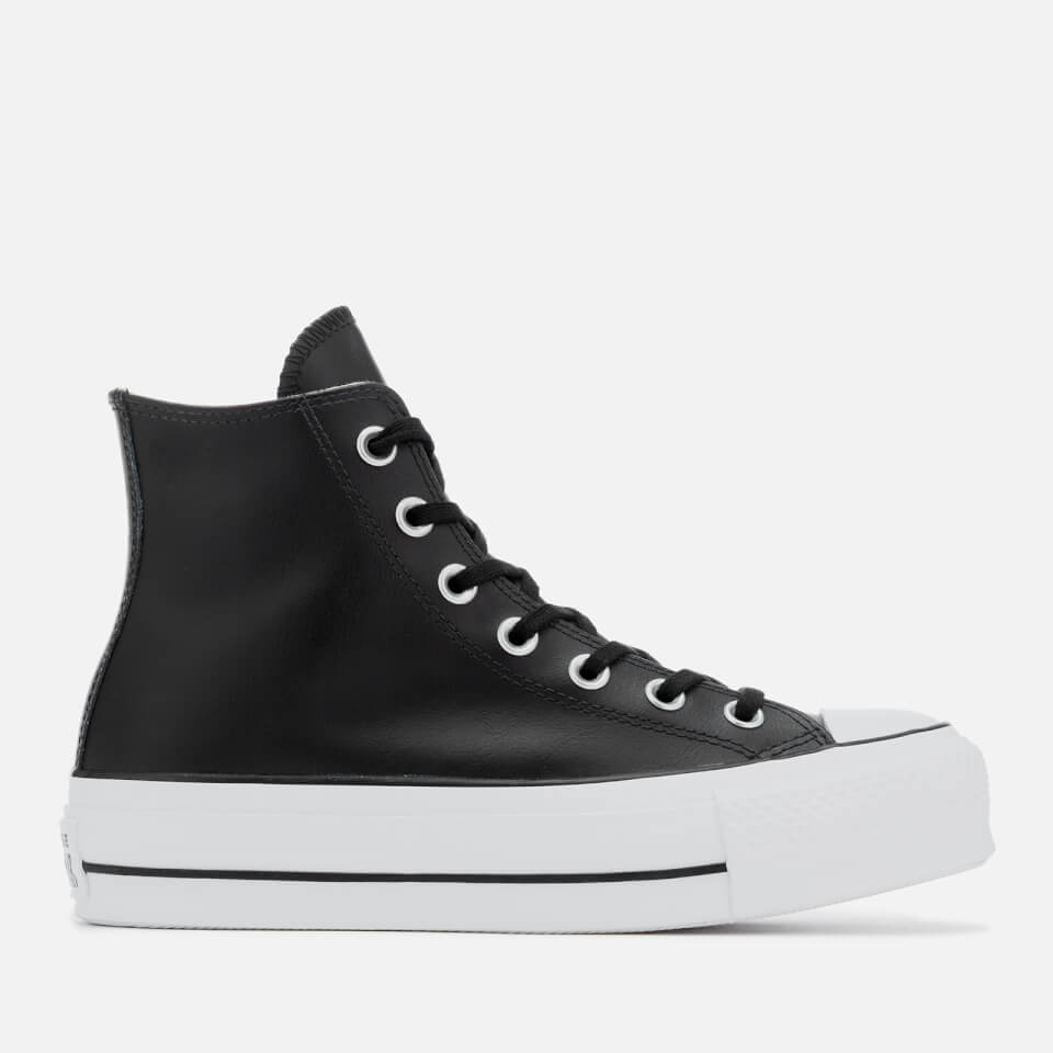 ba935b21eb7658 Converse Women s Chuck Taylor All Star Lift Clean Hi-Top Trainers - Black White  Womens Footwear
