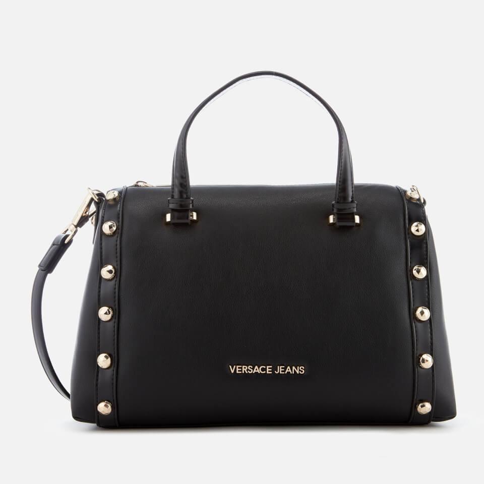3bb0f2e4f23b Versace Jeans Women s Studded Logo Top Handle Bag - Black