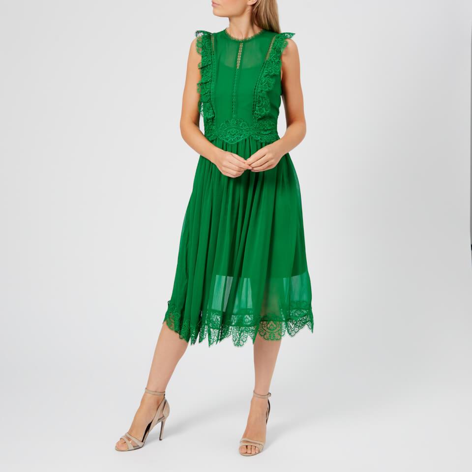 Ted Baker Women S Porrla Frill Lace Midi Dress Bright