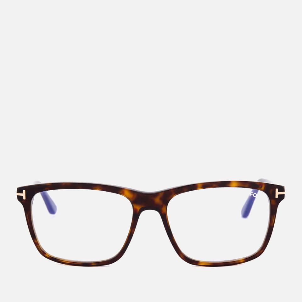 tom ford men 39 s blue block square glasses dark havana. Black Bedroom Furniture Sets. Home Design Ideas