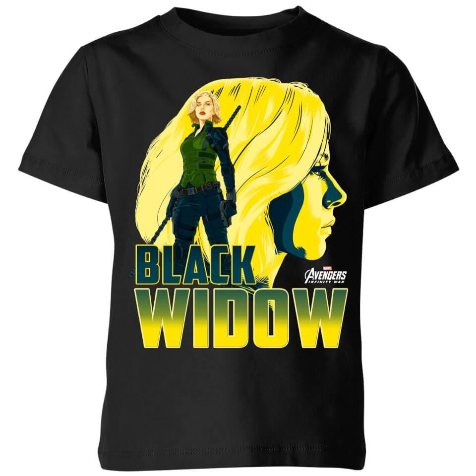 Avengers Black Widow Kids T Shirt Black