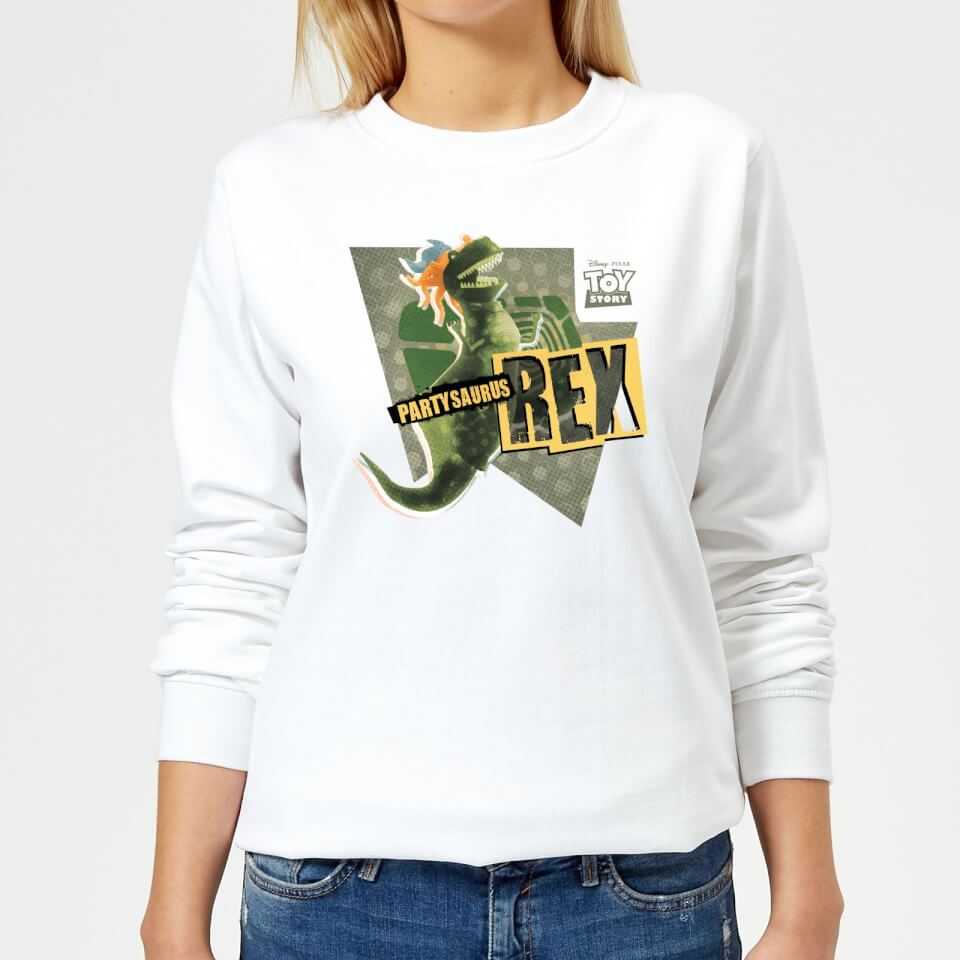 0324cab4874 Toy Story Partysaurus Rex Women s Sweatshirt - White Clothing